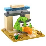 LOZ Gift Large Angry Bird [9515] - Green - Building Set Movie