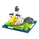 LOZ Gift Large Angry Bird [9516] - White - Building Set Movie