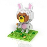 LOZ Gift Large Brown Bear Rabbit Costum [9433] - Building Set Animal / Nature