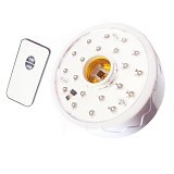 LUBY Lampu Emergency 22 LED + Fitting Dengan Remote Control 5612A - White - Lampu Emergency