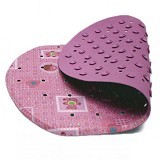 LUCKY BABY Laminated Non Slip Bath Mat 26 x 43cm [LB 1697- PK] - Pink - Baby Bath Tub and Accesories