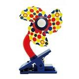 LUCKY BABY Mini Fan Safety Clip [LB 8937] - Orange - Kipas Angin Meja