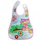 LUCKY BABY Stylo Bib with Flip Crumb Pocket [LB 0186] - Owl