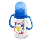 LUSTY BUNNY Baby Bottle With Handle 130ml - Blue