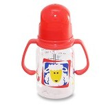 LUSTY BUNNY Baby Bottle With Handle 130ml - Red - Botol Susu