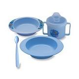 LUSTY BUNNY Feeding Set 5in1 - Blue - Perlengkapan Makan dan Minum Bayi