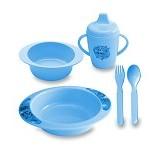 LUSTY BUNNY Feeding Set - Blue - Perlengkapan Makan dan Minum Bayi