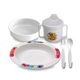 LUSTY BUNNY Plate Set - White - Perlengkapan Makan dan Minum Bayi