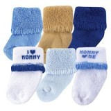 LUVABLE FRIENDS Baby Newborn Socks Boy Mommy  Size 0-6M - Kaos Kaki Bayi dan Anak