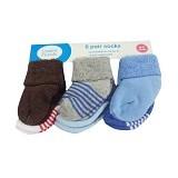 LUVABLE FRIENDS Baby Newborn Socks Boy Salur Size 0-6M - Kaos Kaki Bayi dan Anak