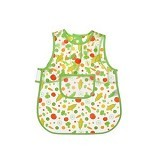 LUVABLE FRIENDS Easy Clean Baby Apron Bib - Green - Celemek Bayi / Bib
