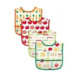 LUVABLE FRIENDS Easy Clean Baby Bib Boys 4Pcs - Celemek Bayi / Bib