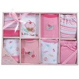 LUVABLE FRIENDS Grow With Me Baby Clothing Gift Set Girl - Setelan / Set Bepergian/Pesta Bayi dan Anak