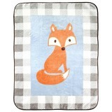 LUVABLE FRIENDS High Pile Character Blanket - Blue Fox - Perlengkapan Tempat Tidur Bayi dan Anak