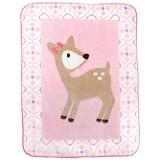 LUVABLE FRIENDS High Pile Character Blanket Deer Girl - Perlengkapan Tempat Tidur Bayi dan Anak