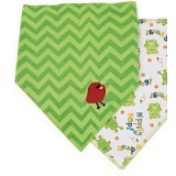 LUVABLE FRIENDS Triangle Trendy Baby Bib 2pcs Frog - Celemek Bayi / Bib
