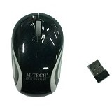 M-TECH Mouse Wireless W87 - Hitam - Mouse Basic