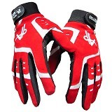 MAESTRO Full Finger Gloves - Red White - Sarung Tangan Motor