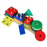 MAINAN EDUKASI Geo Basic 4 Bentuk - Wooden Toy