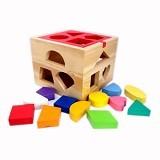 MAINAN EDUKASI Kotak Pas Natural - Wooden Toy