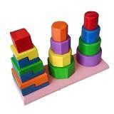 MAINAN EDUKASI Menara 3 Bentuk - Wooden Toy