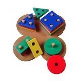 MAINAN EDUKASI Geo Basic Bentuk Bunga - Wooden Toy