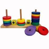 MAINAN EDUKASI Lingkaran Hitung - Wooden Toy