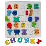 MAINAN EDUKASI Puzzle Chunky Huruf Besar - Wooden Toy
