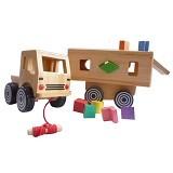 MAINAN KAYU EDUKATIF Alat Peraga Nobie Sorting Truck (Merchant) - Wooden Toy