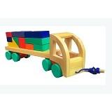 MAINAN KAYU EDUKATIF Alat Peraga Truck Kontainer (Merchant) - Wooden Toy