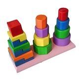 MAINAN KAYU EDUKATIF Menara 3 Bentuk - Wooden Toy