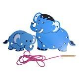 MAINAN KAYU EDUKATIF Papan Jahit 3D Gajah - Wooden Toy