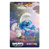 MANDIRI e-Money Smurfs The Lost Village Edition - Clumsy Smurf - E-Toll Pass