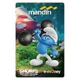 MANDIRI e-Money Smurfs The Lost Village Edition - Hefty Smurf - E-Toll Pass