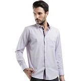 MANLY Regular Fit Striped Shirt Size 16.5 [Condel165] - Light Purple - Kemeja Lengan Panjang Pria