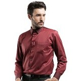 MANLY Regular Fit Striped Shirt Size 16.5 [Reed16.5] - Maroon - Kemeja Lengan Panjang Pria