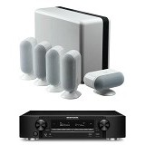 MARANTZ Audio Video Receiver NR1606 + Q Accoustic 7000 - White (Merchant) - Home Theater System