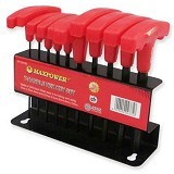 MAXPOWER Handle Hex Key Set 10 Pcs - Obeng Set