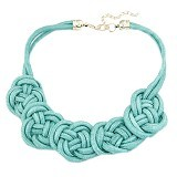 MBIMBEMSHOP Kalung Korea Rope Flower - Blue - Kalung / Necklace