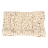 MBIMBEMSHOP Knitting Wool Fashion Headband - Beige - Bando