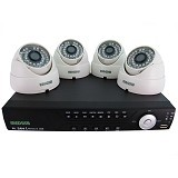 MEDUSA CCTV Paket 4 Camera Dome 700 TVL HDMI [KIT-TSH-401A] - White - Ip Camera