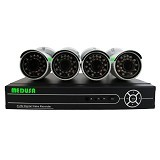 MEDUSA CCTV Paket 4CH AHD Outdoor 1 MP [KA6404M-A513-100W-3.6MM] - Cctv Camera