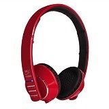 MEELECTRONICS Air-Fi Runaway Stereo Bluetooth Headphones with Microphone [AF32] - Red - Headset Bluetooth