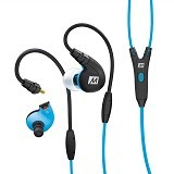 MEELECTRONICS Secure-Fit Sports In-Ear with Mic dan Universal Volume M7P [CSI-MLSK0TBL] - Blue - Earphone Ear Monitor / Iem