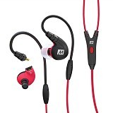 MEELECTRONICS Secure-Fit Sports In-Ear with Mic dan Universal Volume M7P [CSI-MLSK0TRE] - Red - Earphone Ear Monitor / Iem