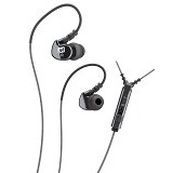 MEELECTRONICS Sport-Fi In-Ear Earphones with Remote and Mic [M6P] - Black - Earphone Ear Monitor / Iem