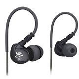 MEELECTRONICS Sport-Fi Memory Wire In-Ear Headphones [M6] - Black - Earphone Ear Monitor / Iem