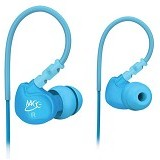 MEELECTRONICS Sport-Fi Memory Wire In-Ear Headphones [M6] - Blue - Earphone Ear Monitor / Iem