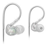 MEELECTRONICS Sport-Fi Memory Wire In-Ear Headphones [M6] - Grey - Earphone Ear Monitor / Iem