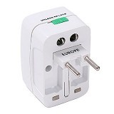 MEGA SOLUTION Universal Travel Adaptor All in One - White - Universal Travel Adapter